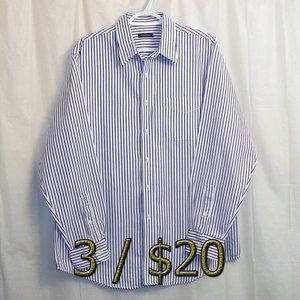 3/$20 Club Room Button Front Shirt Large